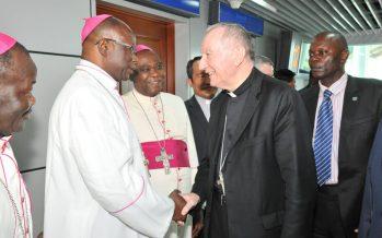 En Images – Congo : Le secrétaire d'Etat du Vatican, le Cardinal Pietro PAROLIN en visite de travail à Brazzaville