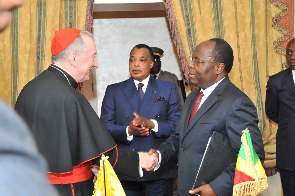 cardinal Pietro Parolin et Dénis Sassou Nguesso