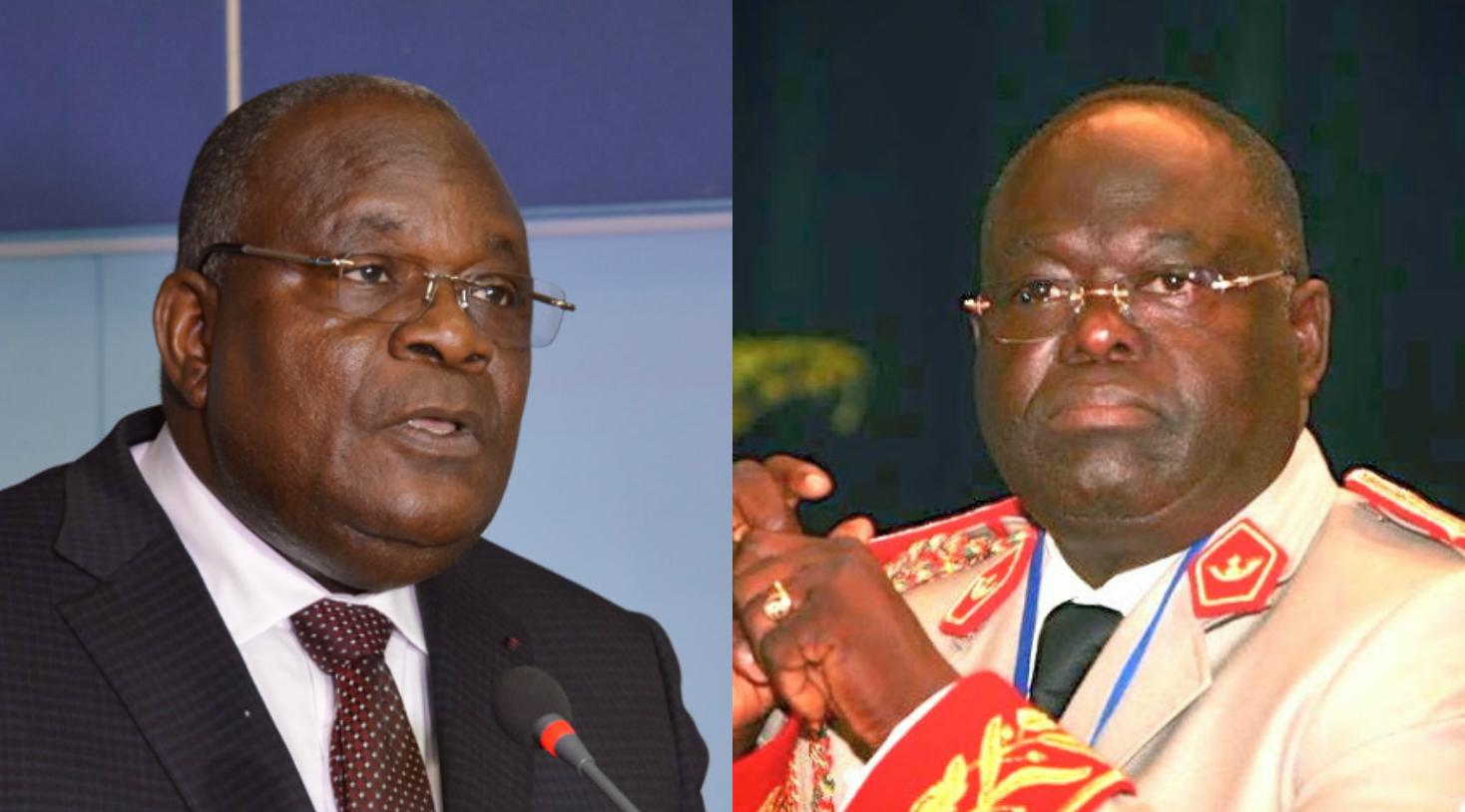 Calixte Ganongo et Alfred Onanga