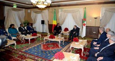 VIDÉO – Algérie : Le président Bouteflika s'entretient avec son homologue congolais Denis Sassou N'Guesso