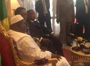 Adama Barrow et Sassou Nguesso