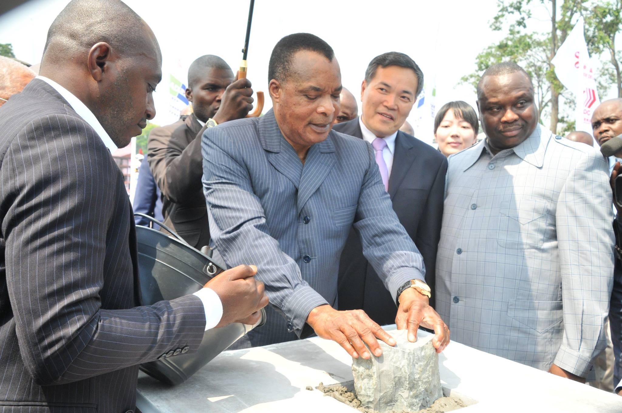 Pose de la première pierre du nouveau siège du parlement congolais