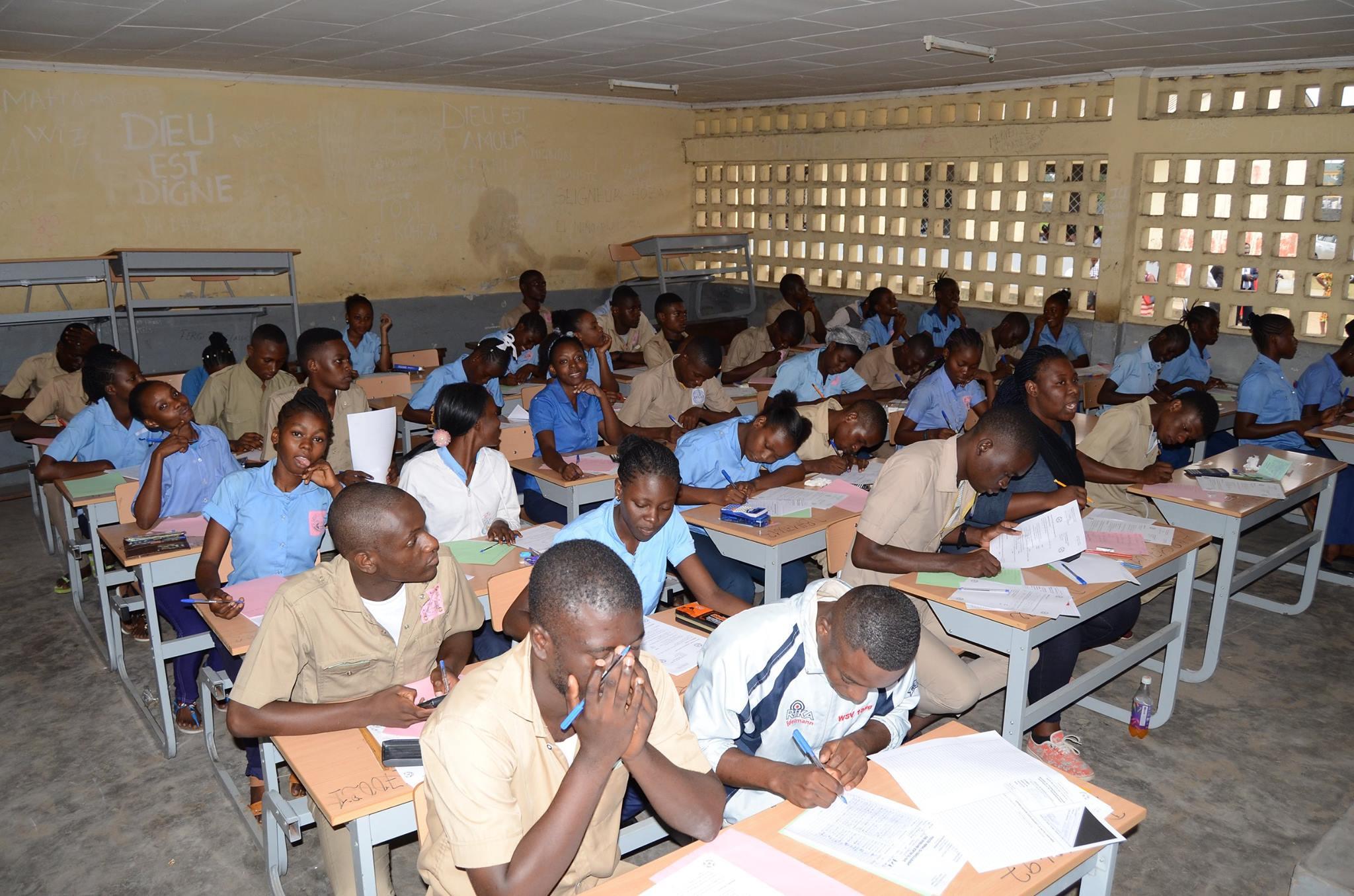 Les élèves au Congo