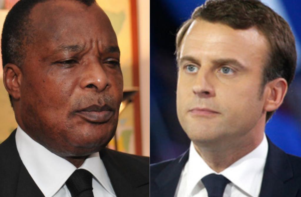 """Résultat de recherche d'images pour """"Emmanuel macron et dénis sassoun n'guesso"""""""