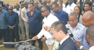 EN IMAGES – Visite de Sassou N'Guesso à Pointe-Noire: les ZES, le futur économique du Congo