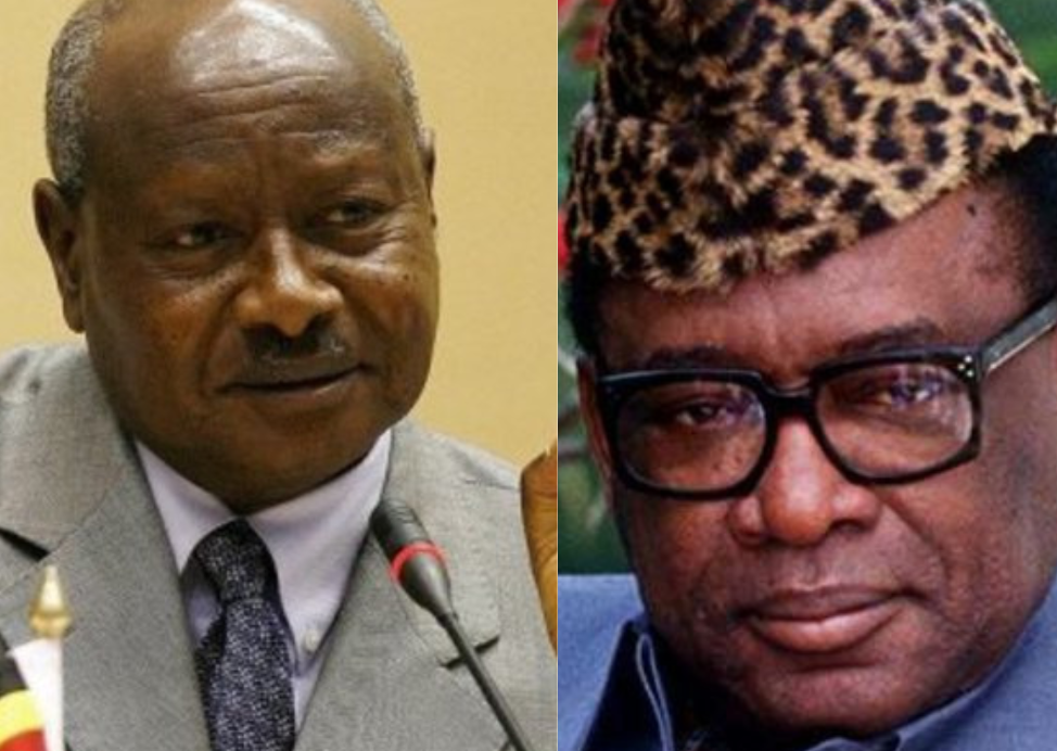 Yoweri Museveni et  Mobutu