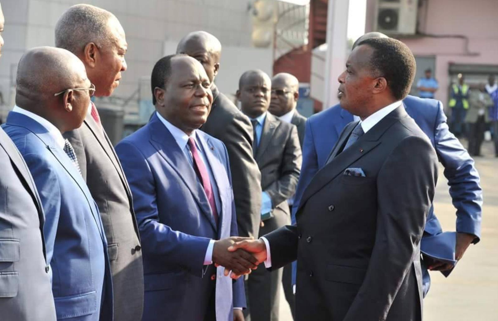 Le Président de la République, Denis Sassou-Nguesso, et le Premier ministre, Clément Mouamba