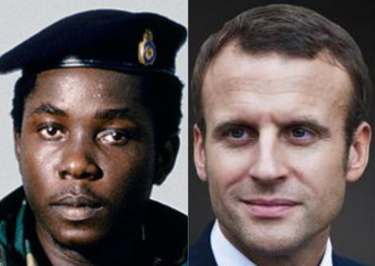 Valentine Strasser et Emmanuel Macron