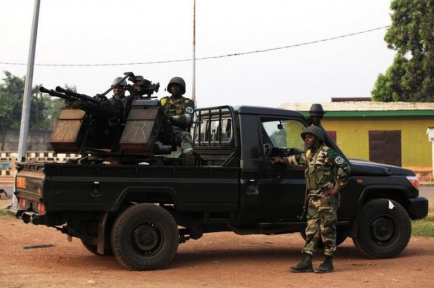 Le contingent de casques bleus du Congo Brazzaville déployé en Centrafrique