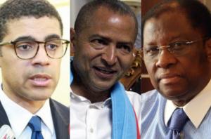 Sindika Dokolo , Moïse Katumbi et  Alexis Thambwe Mwamba