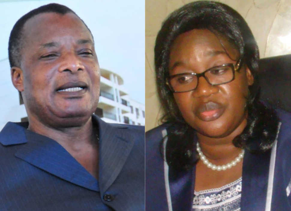 Marie Gabrielle Ambiero et Sassou Nguesso