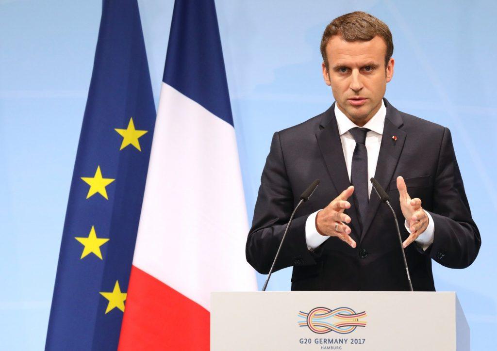 Conference-presse-Emmanuel Macron,sommet G20,Hambourg