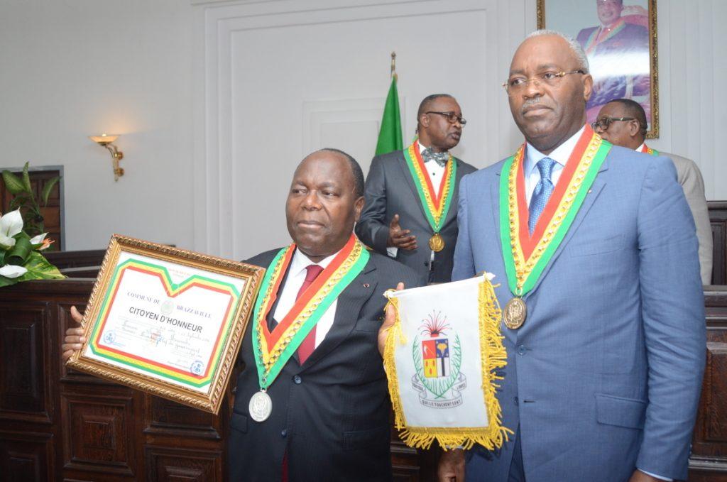Clément Mouamba et Hugues Ngouélondélé,