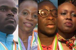 Natacha Ngoye et Franck Elemba