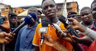 Vidéo –  Un voleur guinéen félicite la police pour sa rapidité. «Je n'imaginais pas qu'ils allaient m'arrêter aussi vite», dit Boubacar