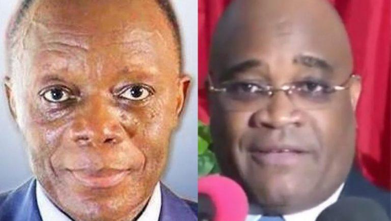 Général Jean-Marie Michel Mokoko (G) et André Okombi Salissa (D), candidats à la présidentielle du 20 mars 2016 au Congo-Brazzaville