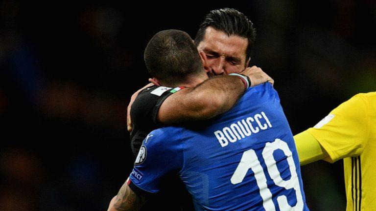 Buffon réconforte Bonnucci © Getty Images