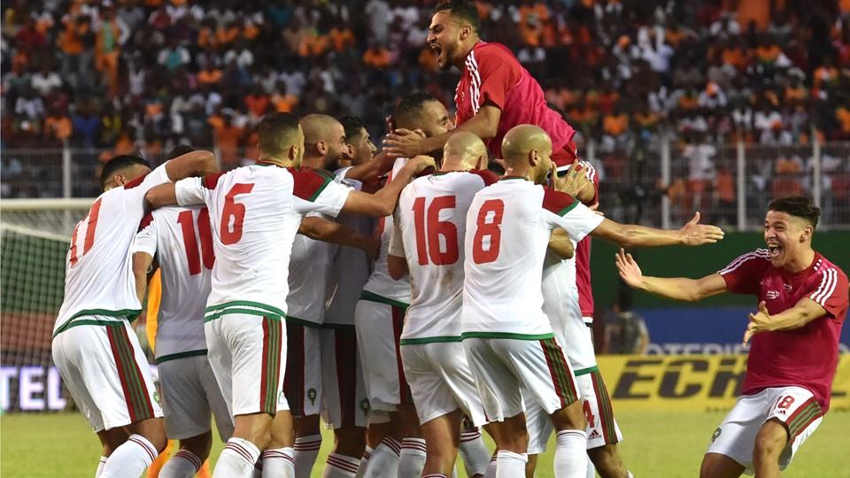 Les joueurs du Maroc