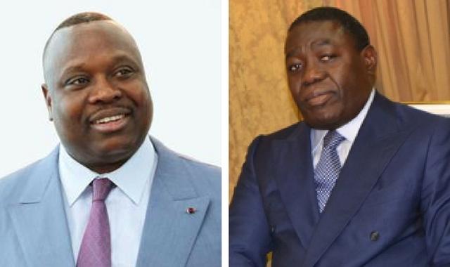 Jean-Jacques Bouya et Gilbert Ondongo. Montage Ici Brazza