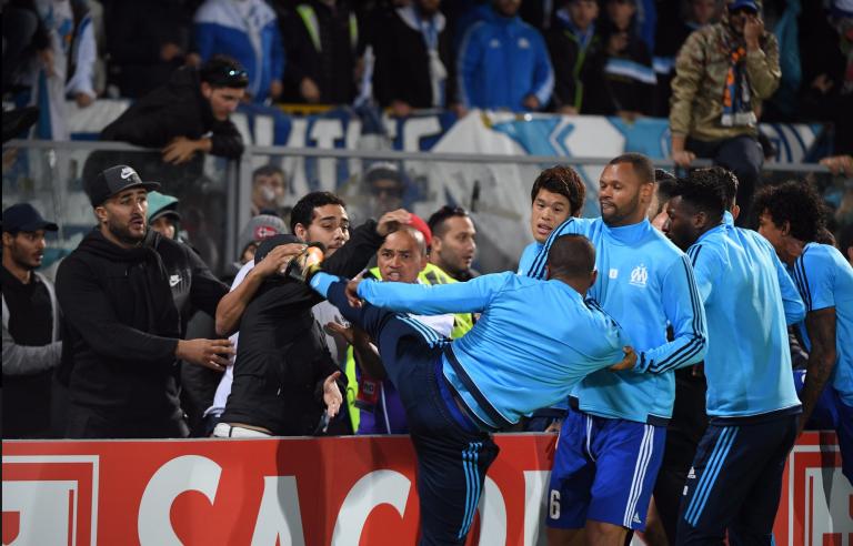 Patrice Evra, le défenseur de Marseille,