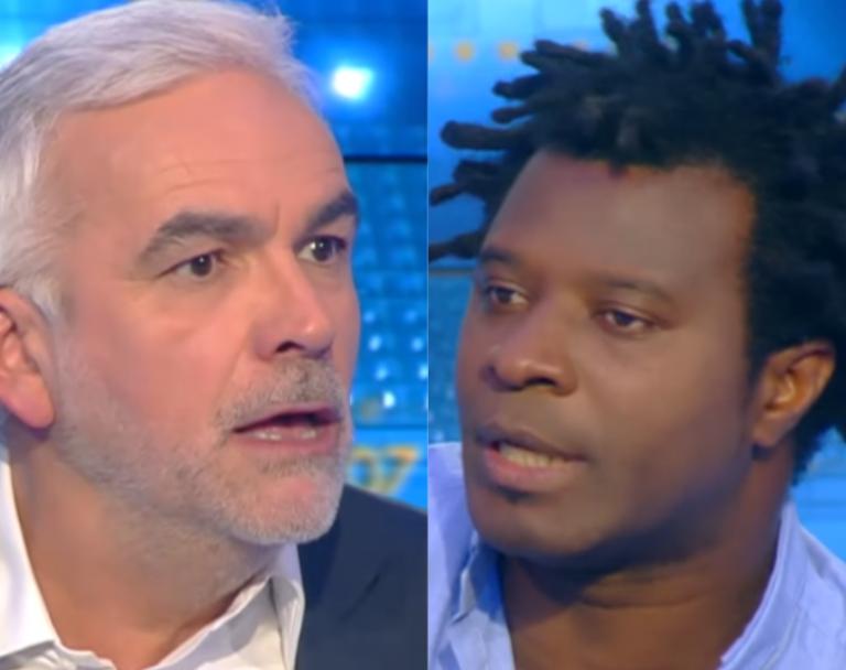 Pascal Praud et le rappeur Rost