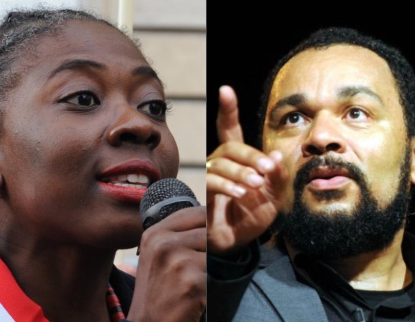 La députée La France insoumise Danièle Obono et l'humoriste Dieudonné