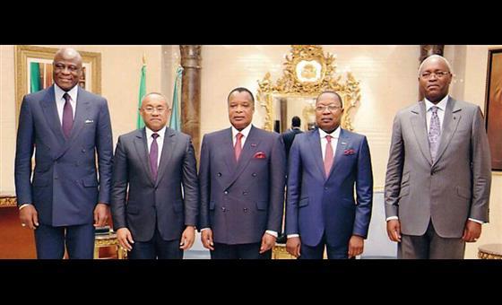 Ahmad Ahmad et Denis Sassou Nguesso