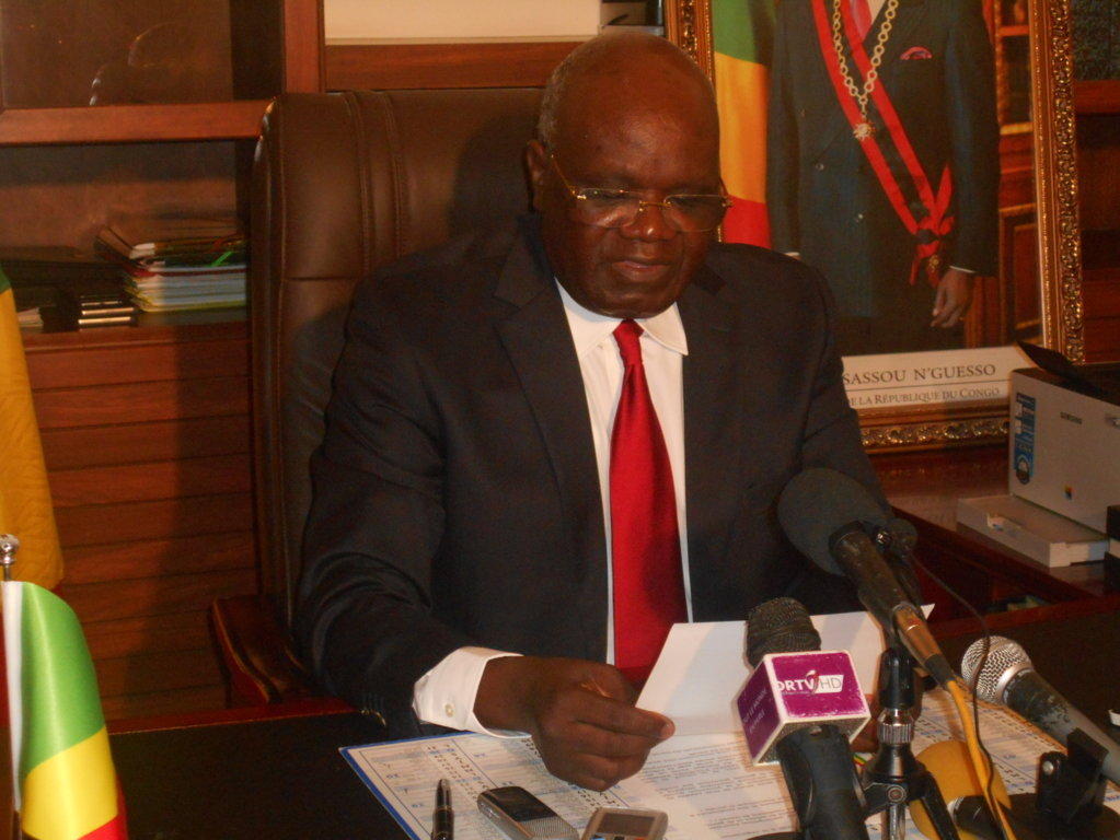 Le ministre Emile Ouosso