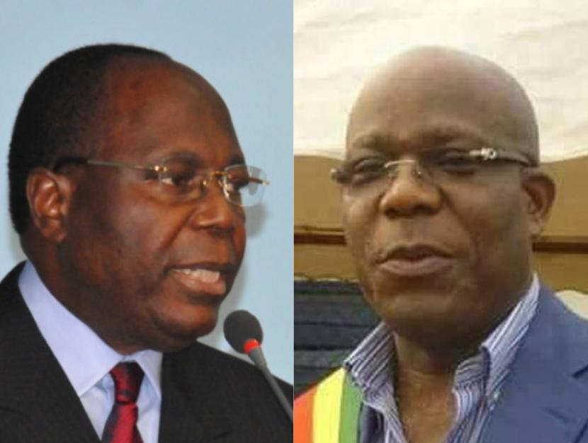 Le Premier ministre, Clément Mouamba et le député Jean-Claude Ibovi