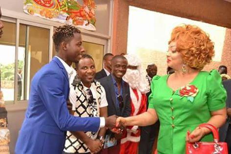 Cameroun: le Congolais Strauss Serpent reçu par la première dame Chantal Biya