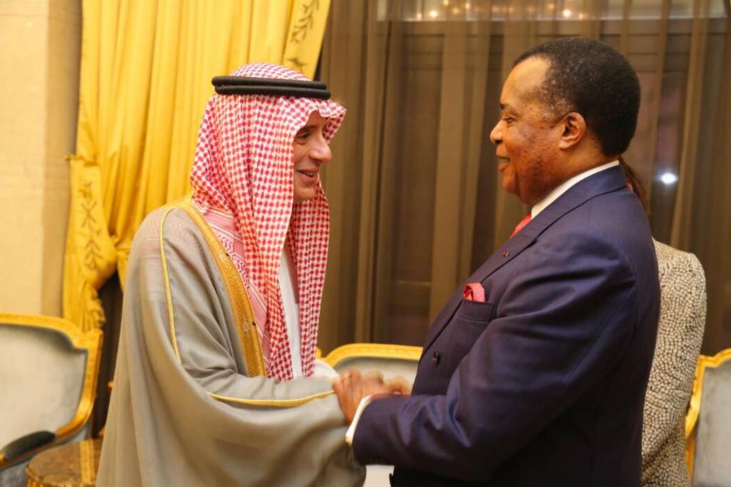 Adel al-Joubeir, émissaire du roi Salman a été reçu par le président congolais Denis Sassou Nguesso, le 8 janvier à Brazzaville.