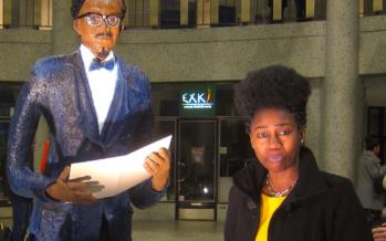 Bruxelles: Rhode Bath-Schéba Makoumbou créé un sculpture Lumumba haut de 2m