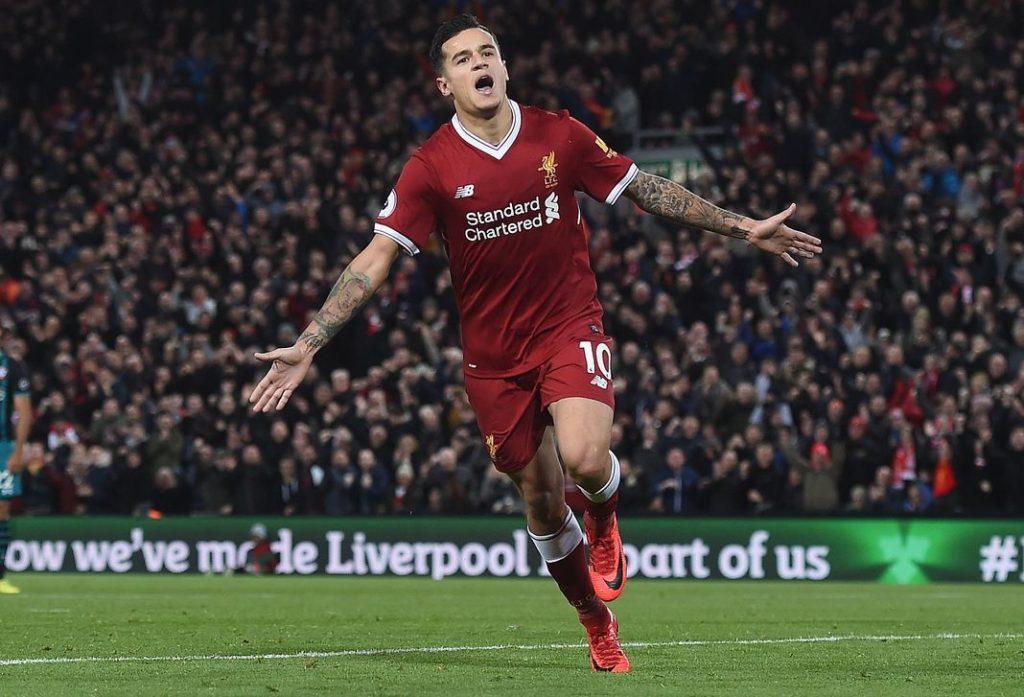 Philippe Coutinho, le 18 novembre à Liverpool. PAUL ELLIS / AFP