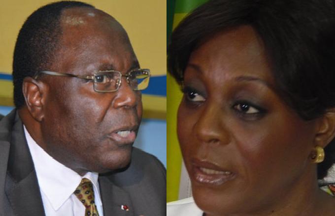 Le premier ministre Clément Mouamba et la ministre Arlette Soudan Nonault