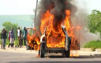 Congo – Circulation routière : Incendie d'un véhicule en plein trafic routier à Brazzaville