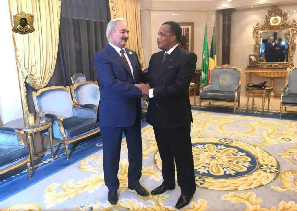 Les propos de Khalifa Haftar irritent Denis Sassou Nguesso