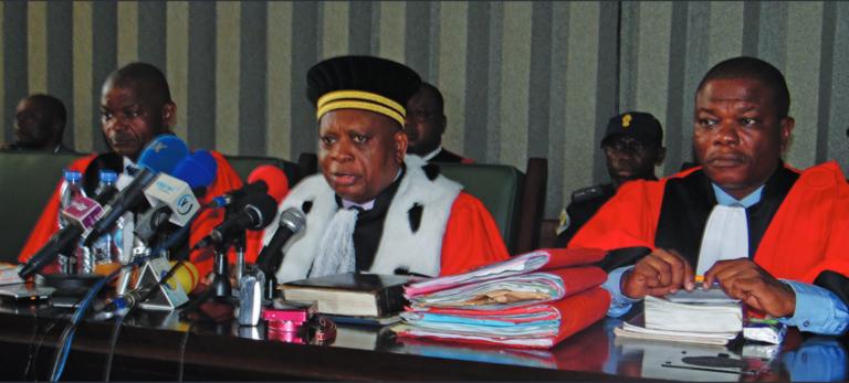 Christian Oba, président de la Cour d'appel de Brazzaville.