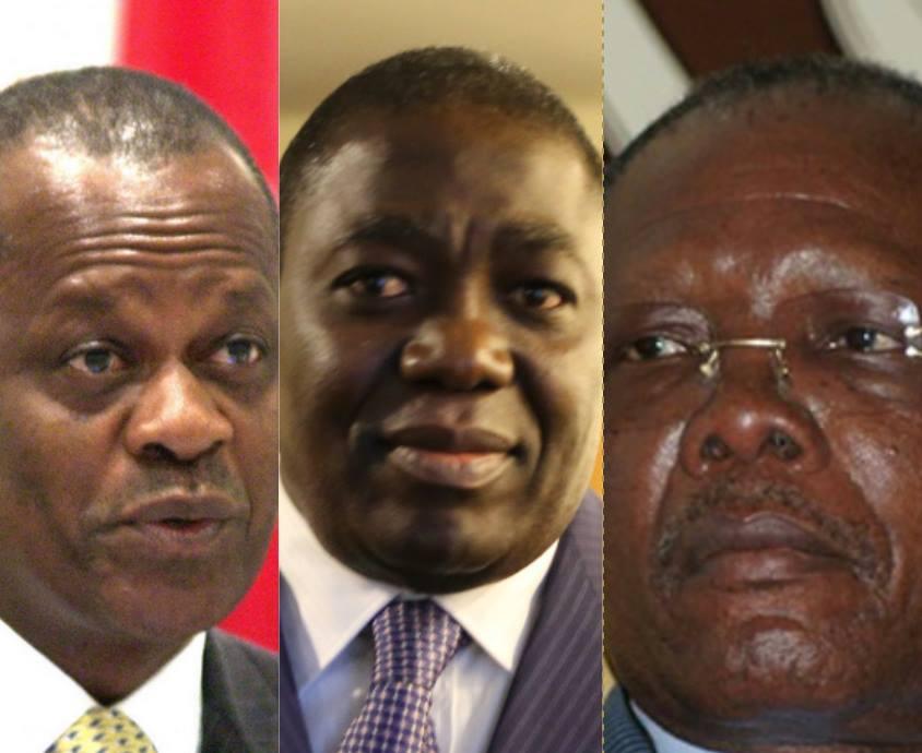 Henri Djombo , Gilbert Ondongo et Pierre Oba