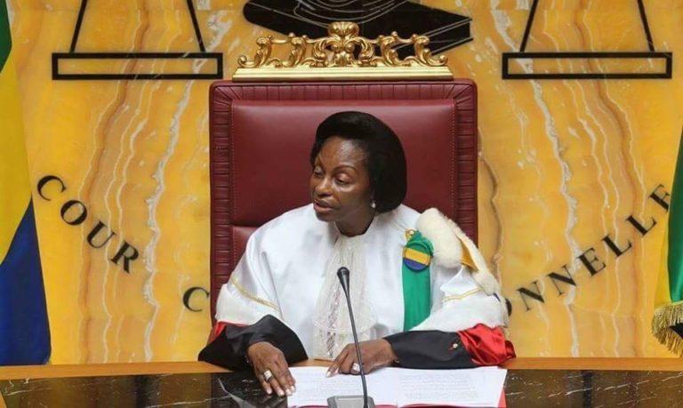 Marie-Madeleine Mborantsuo, la présidente de la Cour constitutionnelle gabonaise
