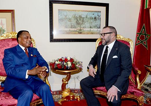 Le Roi Mohammed VI et le Président Denis Sassou Nguesso