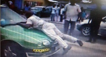 Congo – Circulation routière : Un policier s'agrippe à un véhicule en marche pour le stopper