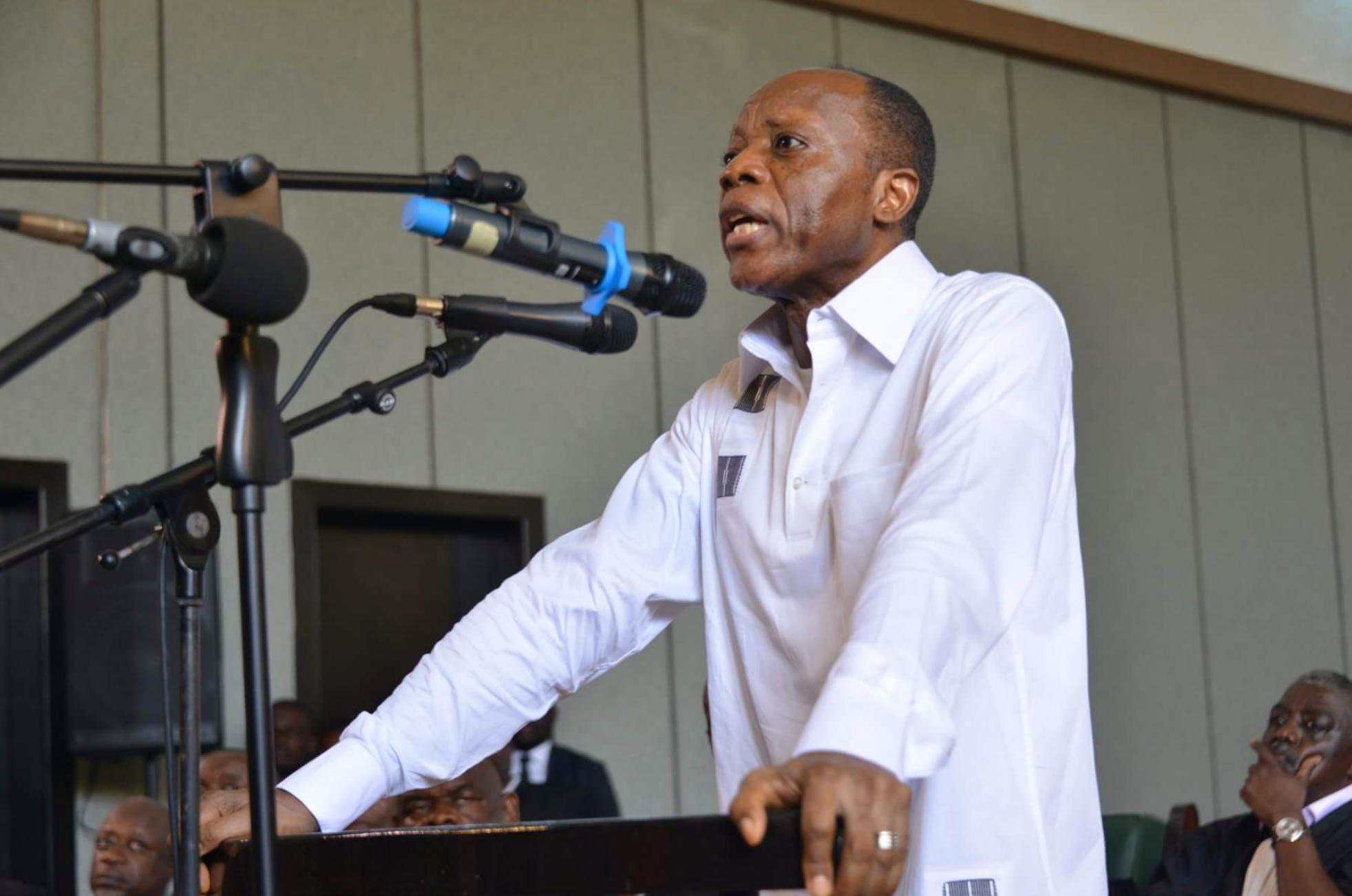 Le général Mokoko, ex-candidat à la présidentielle de 2016, à Brazzaville, le 7 mai 2018.