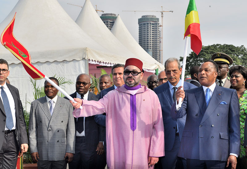 Le Roi Mohamed VI du Maroc et le président congolais Denis Sassou Nguesso