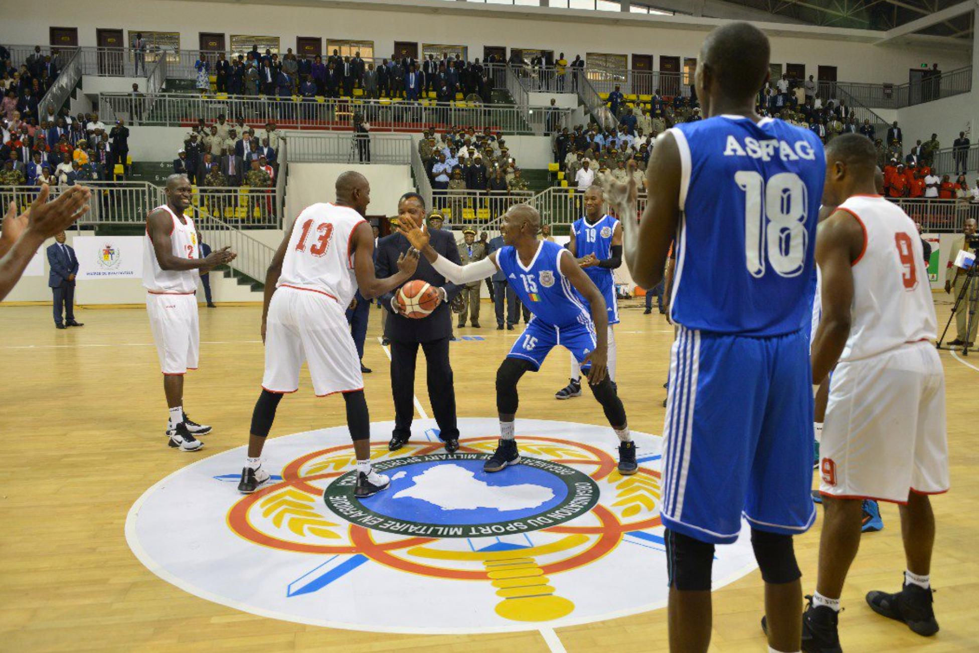 Cam-basket 2018 : le président Denis Sassou N'Guesso donne le coup d'envoi