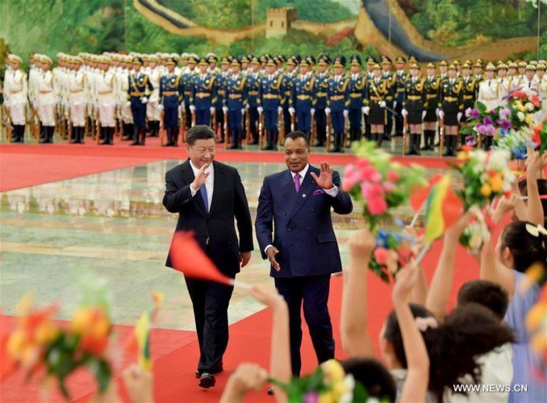 Xi Jinping et Denis Sassou Nguesso