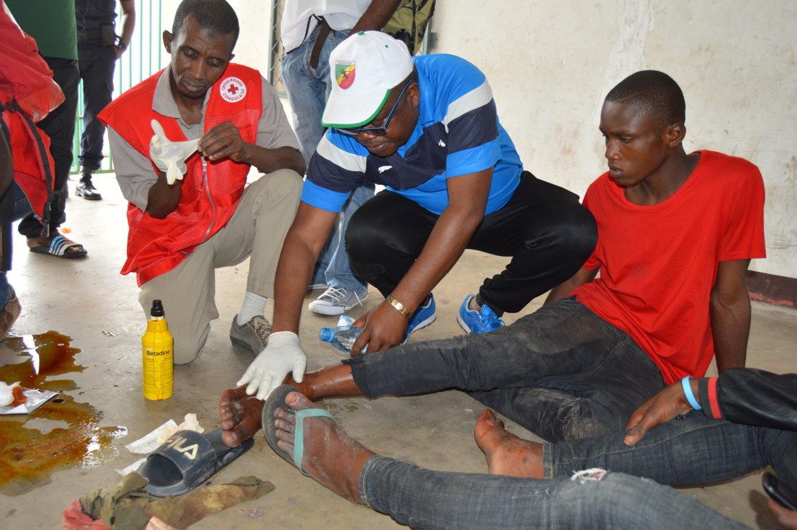 une dizaine de blessés à l'entrée du stade Massamba-Débat