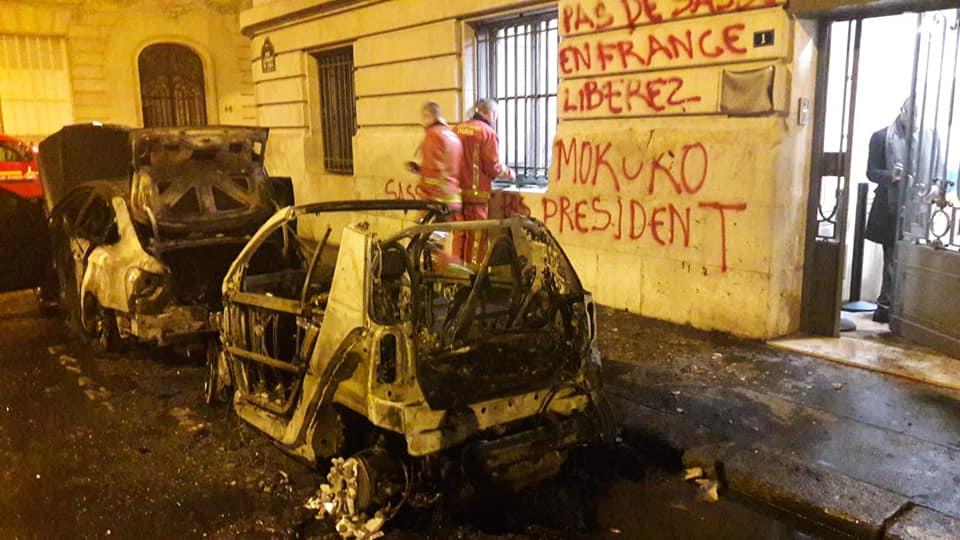 l'ambassade de la République du Congo vandalisée