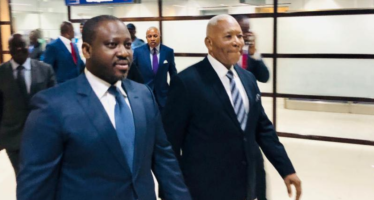 Arrivée de Guillaume Soro à Brazzaville