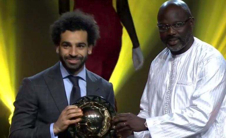 Mohamed Salah et Georges Weah