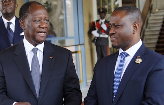 Alassane Ouattara et Guillaume Kigbafori Soro